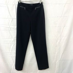 Talbots Black Straight Leg Zipper  Career Pats